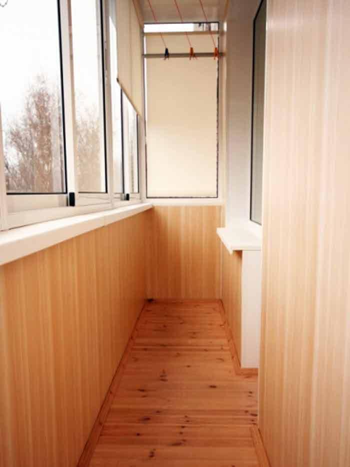 "Отделка балконов и лоджий панелями мдф ""окна эконом""."